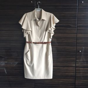 Calvin Klein Khaki color dress